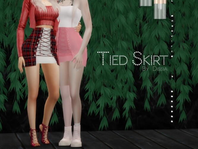Tied Skirt by Dissia