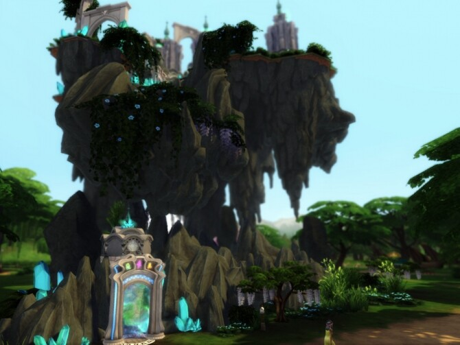 Magical Flying Castle by VirtualFairytales at TSR image 3819 670x503 Sims 4 Updates