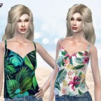 Bethany Tropic Top PF127 by Pinkfizzzzz