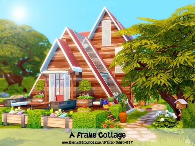 Sims 4 A Frame Cottage by sharon337 at TSR