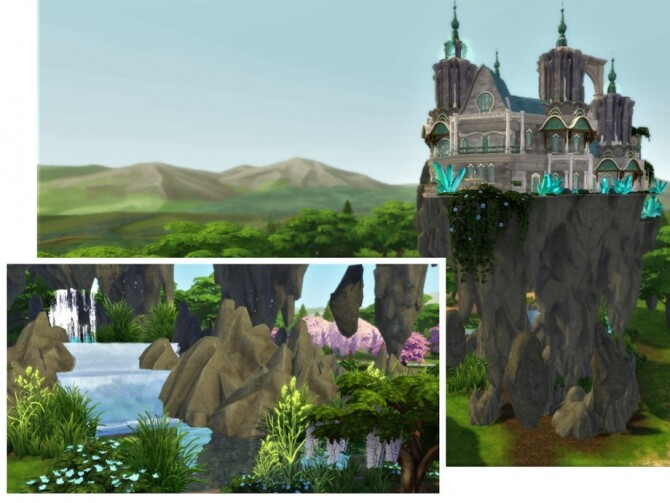 Magical Flying Castle by VirtualFairytales at TSR image 3918 670x503 Sims 4 Updates
