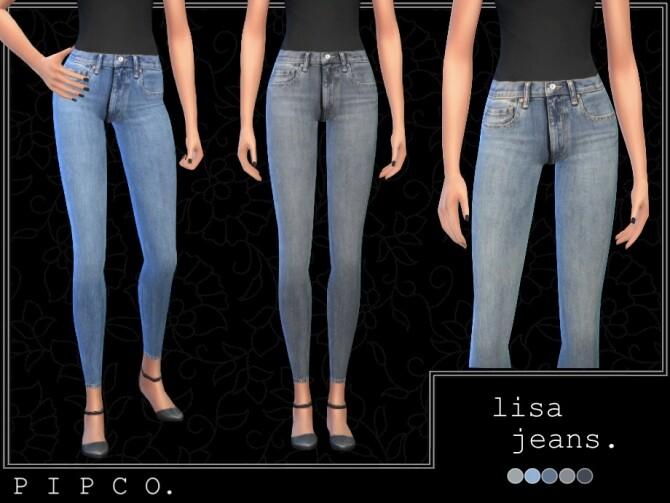 Sims 4 Lisa jeans set by Pipco at TSR