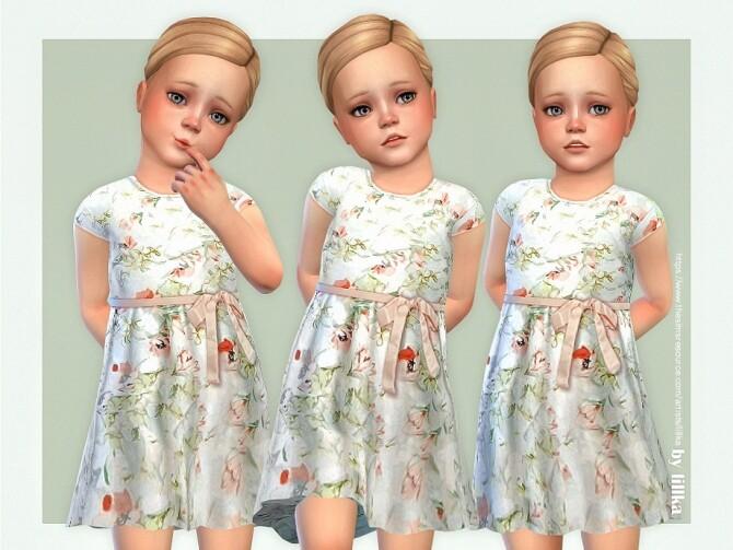 Sims 4 Rosaly Dress by lillka at TSR