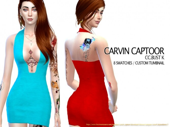 Sims 4 Bust K dress by carvin captoor at TSR