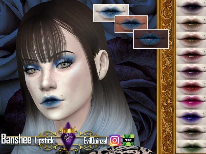 Sims 4 Banshee Lipstick by EvilQuinzel at TSR
