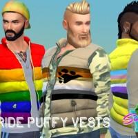 Pride Puffy Vest Long Tee by SimmieV