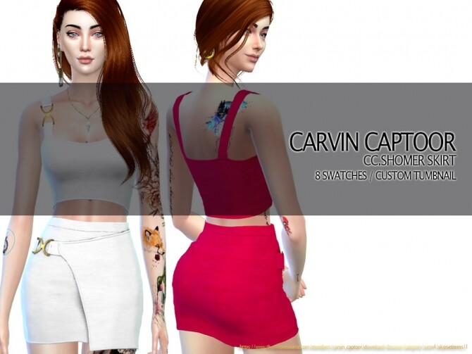 Shomer Skirt by carvin captoor at TSR image 426 670x503 Sims 4 Updates
