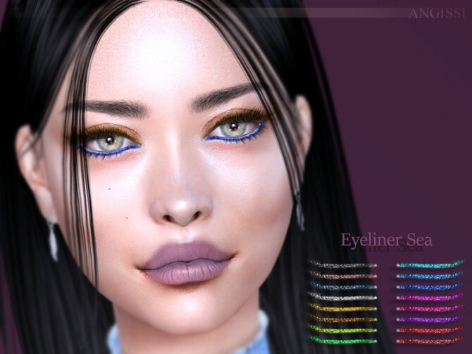Sims 4 Sea Eyeliner by ANGISSI at TSR