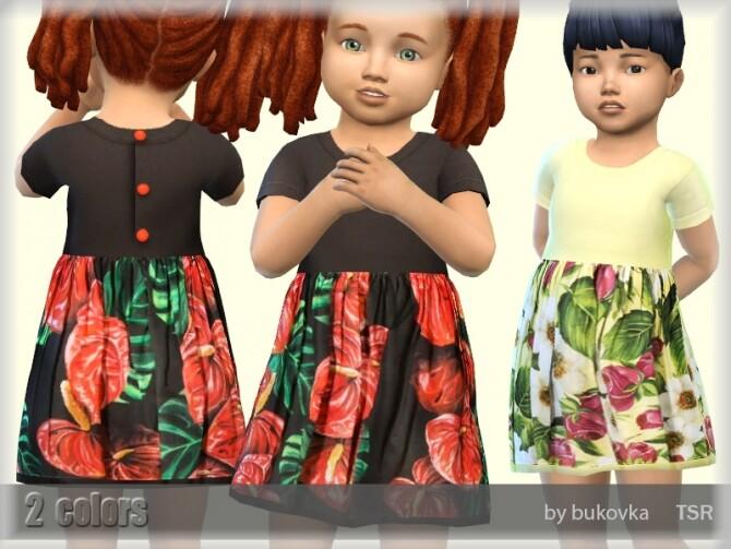 Sims 4 Dress Flowers 2 by bukovka at TSR