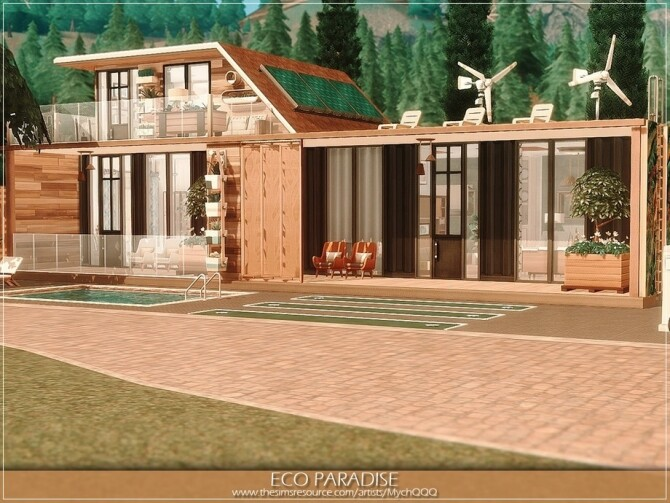 Eco Paradise by MychQQQ at TSR image 433 670x503 Sims 4 Updates