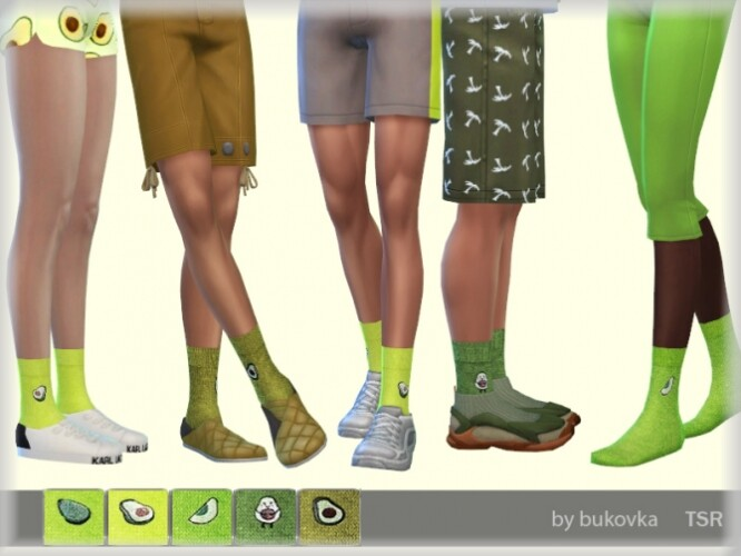 Socks Avocado by bukovka