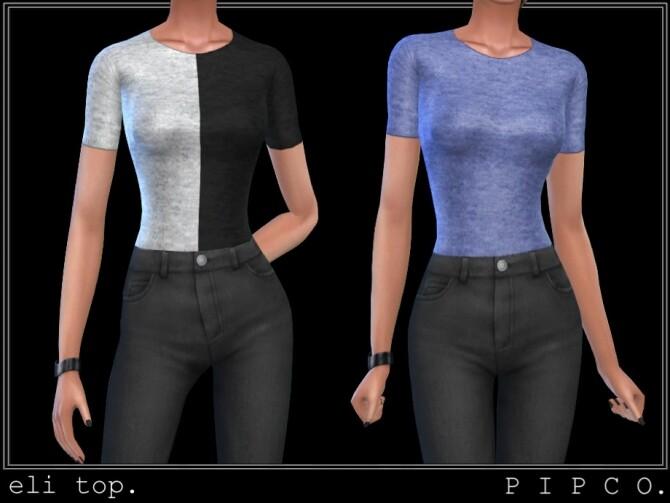 Sims 4 Eli top set by Pipco at TSR