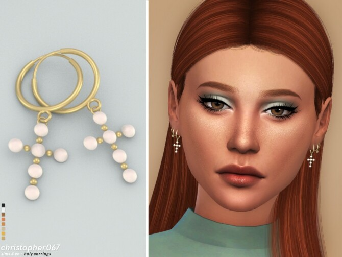 Holy Earrings by christopher067 at TSR image 439 670x503 Sims 4 Updates