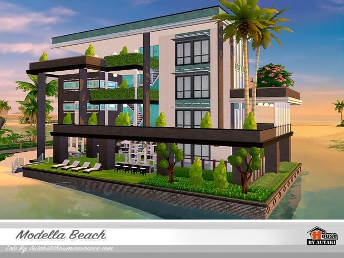 Sims 4 Modella Beach Home by autaki at TSR