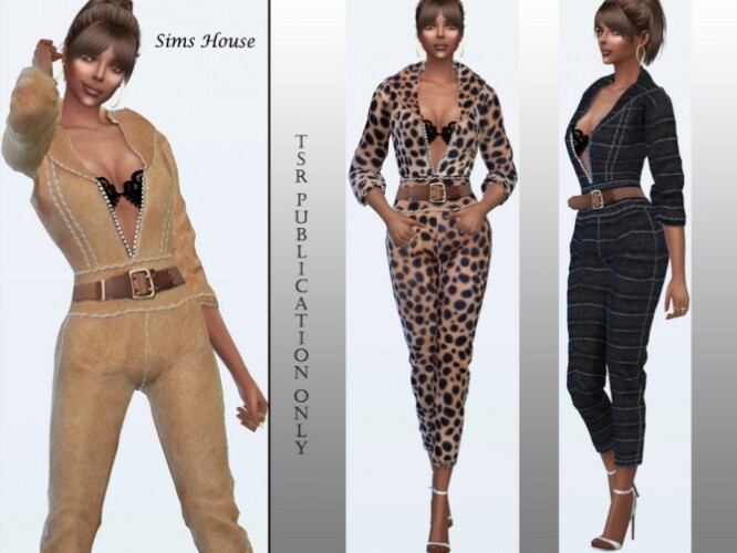 Overalls from eco leather by Sims House