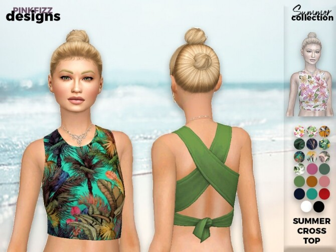 Sims 4 Summer Cross Top PF130 by Pinkfizzzzz at TSR