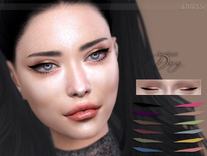 Darcy eyeliner by ANGISSI at TSR image 452 670x503 Sims 4 Updates