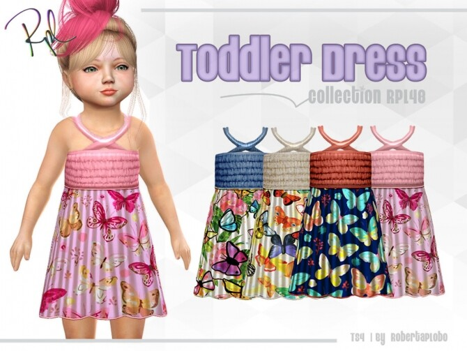 Sims 4 Toddler Dress Collection RPL48 by RobertaPLobo at TSR