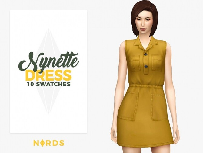 Nynette Dress by Nords at TSR image 4616 670x503 Sims 4 Updates