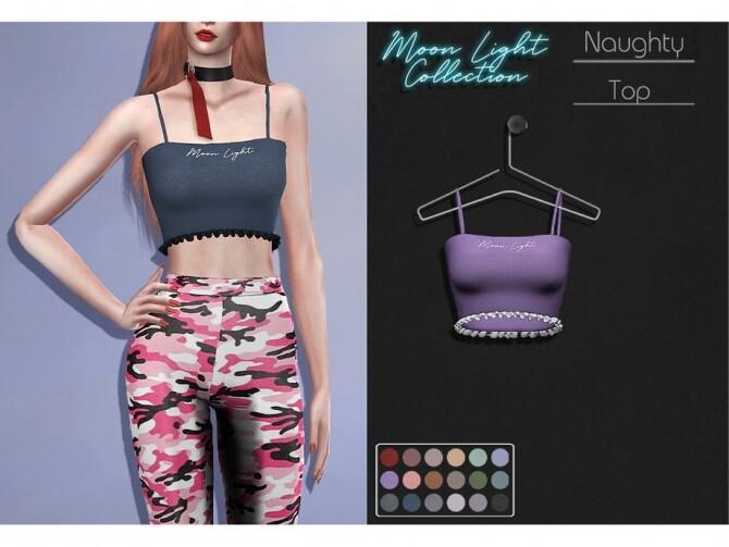 LMCS Naughty Top by Lisaminicatsims at TSR image 4617 670x503 Sims 4 Updates