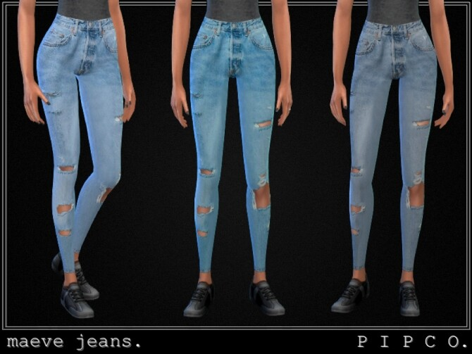 Sims 4 Maeve jeans set by Pipco at TSR