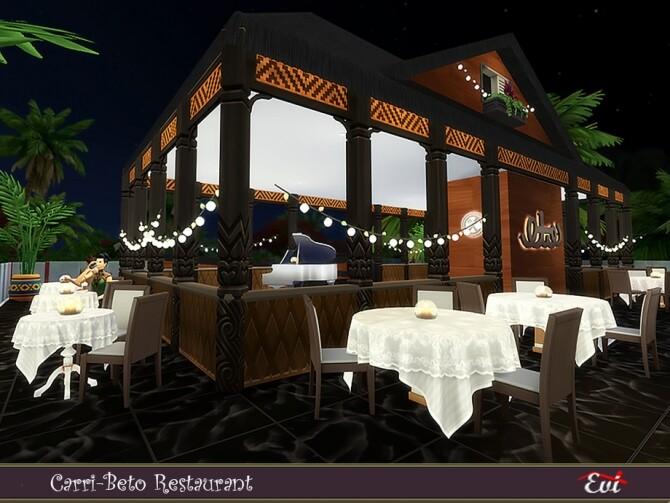 Sims 4 Carri Beto Restaurant by evi at TSR