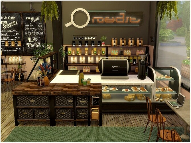 Wooden Cafe by lotsbymanal at TSR image 470 670x503 Sims 4 Updates