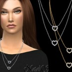 Crystal open heart necklace by NataliS