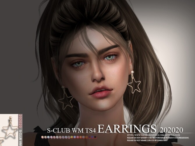 Sims 4 EARRINGS 202020 by S Club WM at TSR