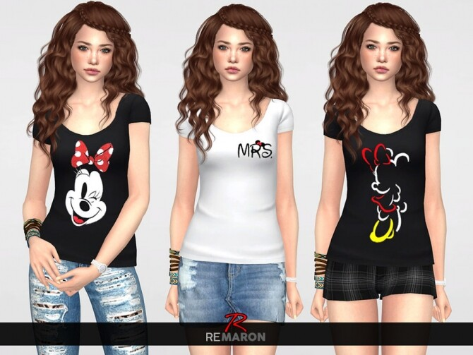 Sims 4 Shirt for Women 01 by remaron at TSR