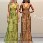 Ariadna long embellished dress by laupipi