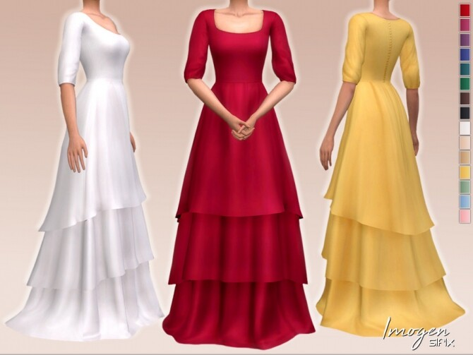 Sims 4 Imogen Dress by Sifix at TSR