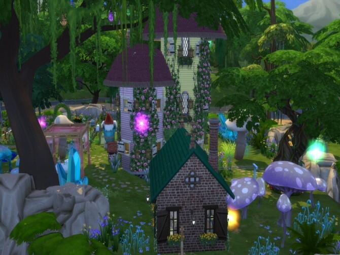 Sims 4 Mushroom Cottage by susancho93 at TSR