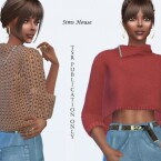 Women's Knit Three Quarter Sleeve Sweater by Sims House