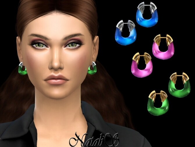 Acrylic hoop earrings by NataliS at TSR image 494 670x503 Sims 4 Updates
