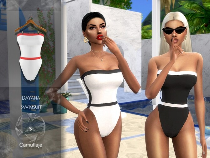 Dayana Swimsuit by Camuflaje at TSR image 5018 670x503 Sims 4 Updates