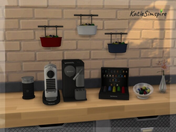 Sims 4 Nespresso set by Katiesimspire at TSR