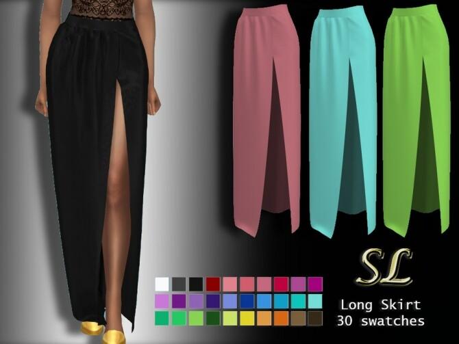 Sims 4 Long Skirt by SL CCSIMS at TSR
