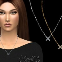 X-shaped pendant necklace by NataliS