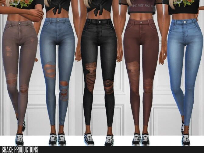 6 jeans set by ShakeProductions at TSR image 5119 670x503 Sims 4 Updates