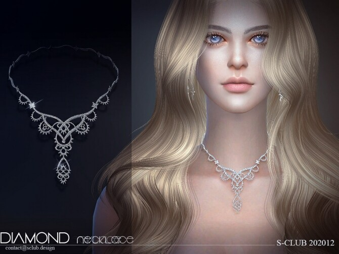 Sims 4 Necklace 202012 by S Club LL at TSR