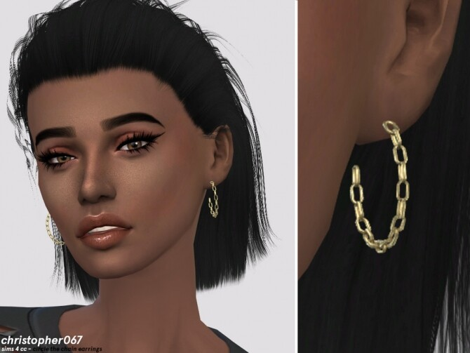 Circle The Chain Earrings by christopher067 at TSR image 5212 670x503 Sims 4 Updates