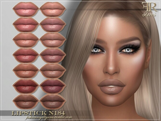 Sims 4 FRS Lipstick N184 by FashionRoyaltySims at TSR