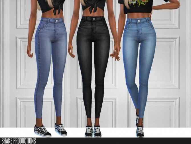 6 jeans set by ShakeProductions at TSR image 5217 670x503 Sims 4 Updates