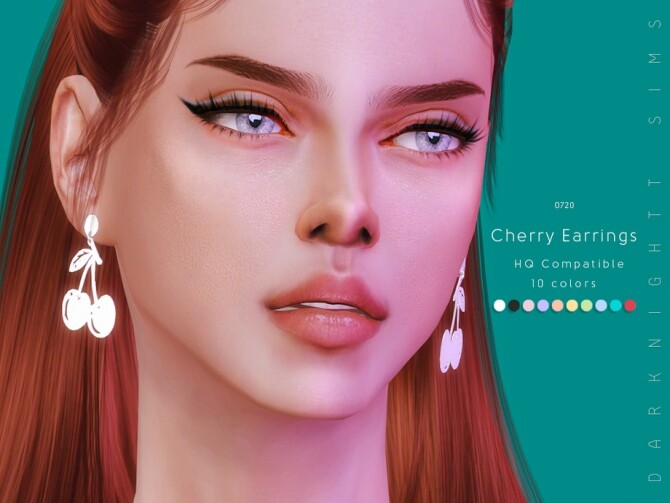 Cherry Earrings by DarkNighTt at TSR image 523 670x503 Sims 4 Updates