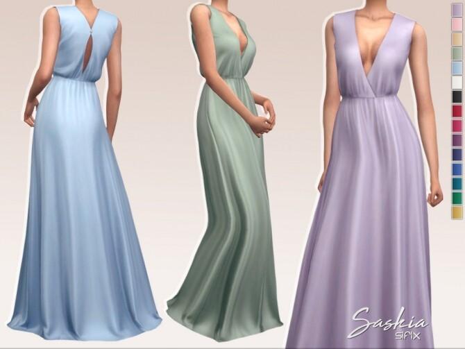 Sims 4 Saskia Dress by Sifix at TSR
