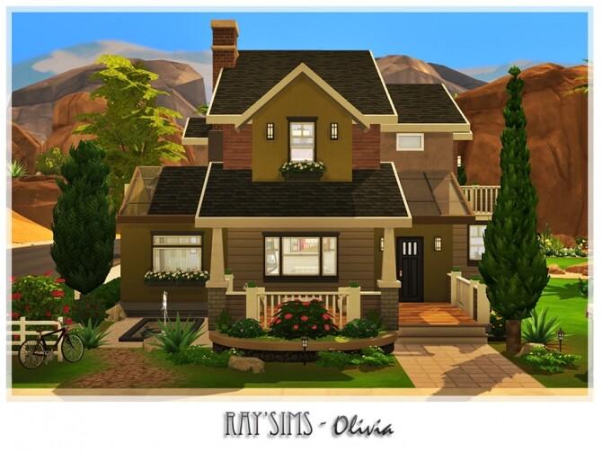 Sims 4 Olivia house by Ray Sims at TSR