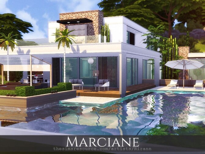 Sims 4 Marciane house by Rirann at TSR