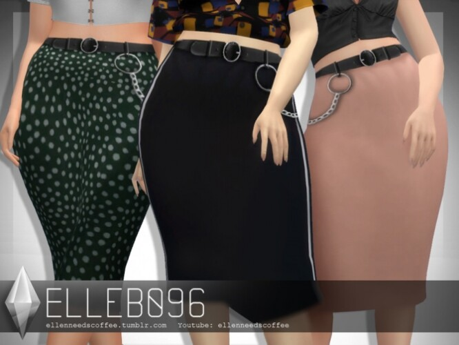 Belted Silk Skirt by Elleb096