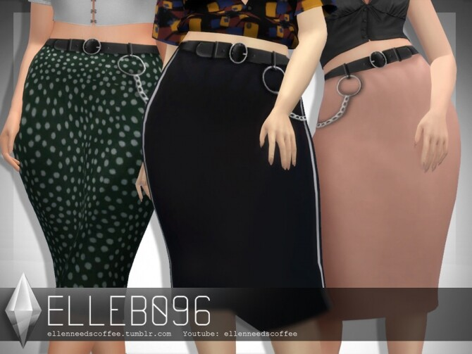 Belted Silk Skirt by Elleb096 at TSR image 540 670x503 Sims 4 Updates
